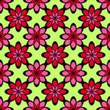 картина цветков безшовная Стоковые Изображения