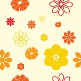 картина цветков безшовная Стоковое фото RF