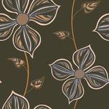 картина цветков безшовная Стоковое Изображение