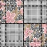Картина цветков безшовного шнурка заплатки ретро Стоковые Изображения RF