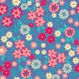 Картина цветков вектора безшовная Флористическая предпосылка для печатей моды Дизайн для ткани, обоев, создавая программу-оболочк иллюстрация штока