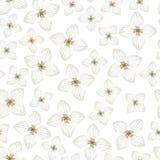 Картина цветков гортензии безшовная Стоковые Фотографии RF