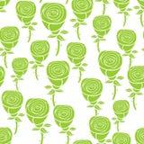 картина цветков зеленая безшовная бесплатная иллюстрация