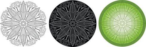 Картина цветков и листьев для книжка-раскраски вектор орнамента круглый бесплатная иллюстрация