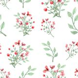Картина цветков и листьев Стоковое Фото