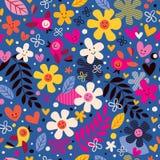 Картина цветков и птиц Стоковые Изображения