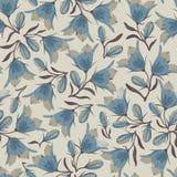 Картина цветков колокола безшовная Стоковые Фотографии RF