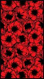 Картина цветков мака Стоковая Фотография RF