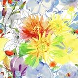 картина цветков осени безшовная бесплатная иллюстрация