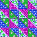 Картина цветков яркого шнурка заплатки безшовного ретро Стоковые Изображения