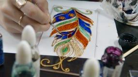 Картина цветного стекла Стоковые Изображения
