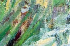 Картина цветов масла абстрактная Стоковые Фото