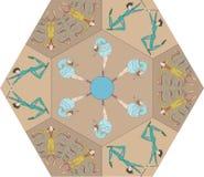Картина цирка год сбора винограда Стоковые Изображения