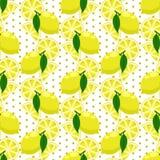 Картина цитруса лимона безшовная бесплатная иллюстрация