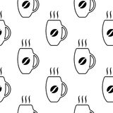 Картина чашек кофе Бесплатная Иллюстрация