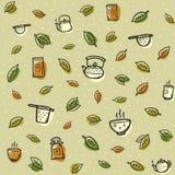 Картина чая с покрашенными акцентами на салатовой предпосылке Стоковая Фотография RF