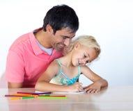 картина человека девушки маленькая совместно Стоковые Изображения RF