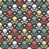 Картина черепа безшовная Стоковые Изображения