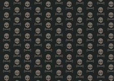 Картина черепа и косточки Стоковая Фотография