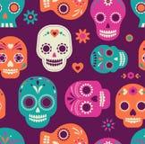 Картина черепа, мексиканский день умерших Стоковое Изображение