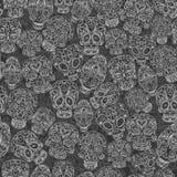 Картина черепов сахара безшовная Стоковое фото RF