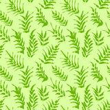 Картина чернил безшовная с ладонью выходит в зеленые цвета наконечников Стоковое Изображение RF