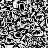 Картина черного знамени литерности руки продажи пятницы безшовная Стоковое фото RF