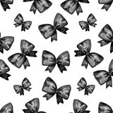 Картина черного смычка акварели пятницы безшовная Продажа плаката Стоковая Фотография