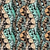 Картина черной ткани вектора шнурка безшовная Стоковое Изображение