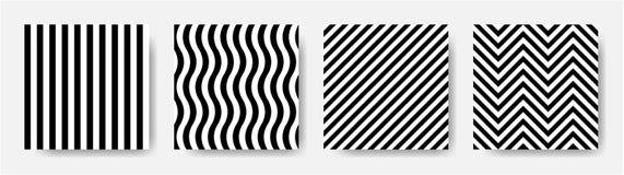 Картина черно-белых нашивок безшовная Вектор EPS 10 Стоковая Фотография RF