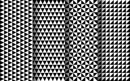 Картина черно-белых треугольников безшовная Вектор EPS 10 Стоковая Фотография RF