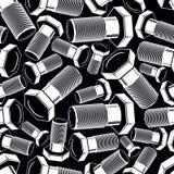 Картина черно-белого вектора болта 3d безшовная творческо бесплатная иллюстрация