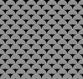 Картина черно-белого стиля Арт Деко безшовная Стоковые Изображения RF