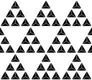 Картина черно-белого треугольника безшовная Стоковое фото RF