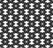 Картина черно-белой звезды безшовная Стоковое Изображение RF
