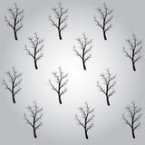 Картина черные деревья Стоковые Фото