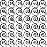Картина черных спиралей Стоковые Изображения