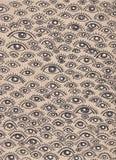 Картина человеческих глаз нарисованная рукой иллюстрация штока