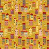Картина шаржа безшовная с ландшафтом бесплатная иллюстрация