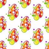 Картина 6 шаржа безшовная Стоковые Изображения