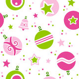 Картина шариков рождества безшовная Стоковое Изображение