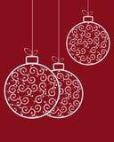 Картина шариков рождества ретро Стоковое Изображение