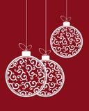 Картина шариков рождества Стоковая Фотография RF