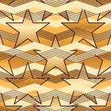 Картина Шеврона звезды безшовная Стоковые Изображения