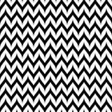 Картина Шеврона зигзага вектора безшовная Изогнутая волнистая линия зигзага Стоковое Изображение RF