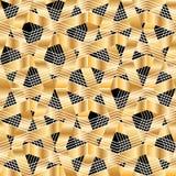 Картина Шеврона золотая перекрестная безшовная Стоковые Изображения