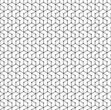 картина шестиугольника безшовная Monochrome геометрическая решетка полигона поставила точки бесконечная текстура вектора иллюстрация вектора