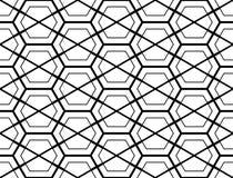 Картина шестиугольника дизайна безшовная monochrome Стоковое Изображение