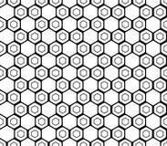Картина шестиугольника дизайна безшовная monochrome Стоковые Фотографии RF