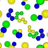 картина шестиугольников 3-цвета безшовная Стоковая Фотография